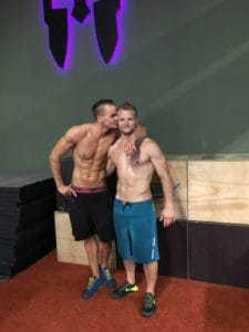 two members after workout