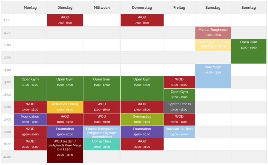 crossfitdus timetable
